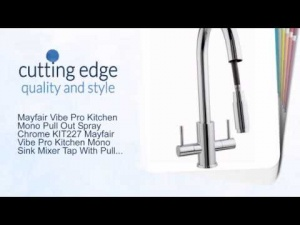 Mayfair Vibe Pro Kitchen Sink Tap Mono Pull Out Spray Chrome KIT227